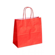 "Papiertragetaschen ""Komfort-Color"" 250+110x240mm 100g rot mit gedrehter Papierkordel (KTN=250 STÜCK) Produktbild"
