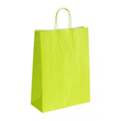 "Papiertragetaschen ""Komfort-Color"" 320+130x425mm 100g hellgrün mit gedrehter Papierkordel (KTN=250 STÜCK) Produktbild"