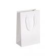 """Papiertragetaschen """"White"""" 160+80x250mm 190g weiß glänzend mit Baumwollkordel (KTN=125 STÜCK) Produktbild"""