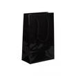 """Papiertragetaschen """"Night"""" 160+80x250mm 190g schwarz glänzend mit Baumwollkordel (KTN=125 STÜCK) Produktbild"""