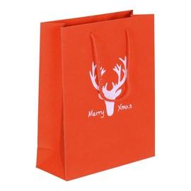 """Papiertragetaschen """"Merry Xmas"""" 20+8x25cm / 190g / rot-glitter (KTN=100 STÜCK) Produktbild"""