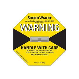 Stoßindikator 79L65 gelb Shockwatch / 25g/50ms Produktbild