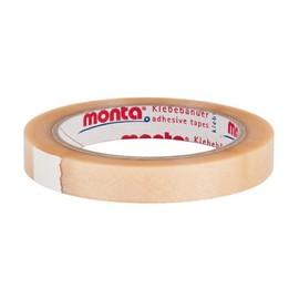 PVC Klebeband transparent MONTA 220 15mm x 66m / 35µ / Naturkautschuk (RLL=66 METER) Produktbild