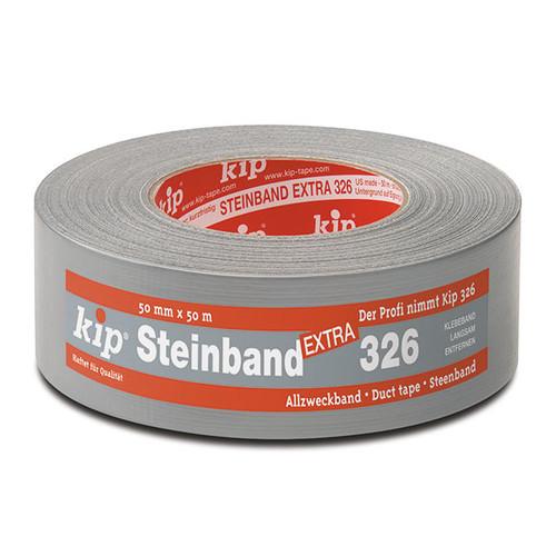 Gewebeklebeband grau 25mm x 50m / 326 Steinband SIL (RLL=50 METER) Produktbild Front View L