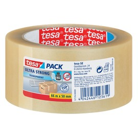 Klebeband Tesapack 4124 ultra strong 50mmx66m extrem reißfest leise abrollbar farblos PVC Tesa 57176-00000-08 Produktbild