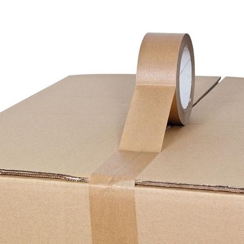 Kraftpapier Klebeband braun 50mm x 50m / selbstklebend Naturkautschuk (RLL=50 METER) Produktbild Additional View 2 L