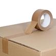 Kraftpapier Klebeband braun 50mm x 50m / selbstklebend Naturkautschuk (RLL=50 METER) Produktbild Additional View 1 S