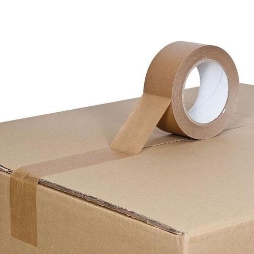 Kraftpapier Klebeband braun 50mm x 50m / selbstklebend Naturkautschuk (RLL=50 METER) Produktbild Additional View 1 L
