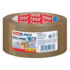 Klebeband Tesapack 4124 ultra strong 50mmx66m extrem reißfest leise abrollbar braun PVC Tesa 57177-00000-11 Produktbild