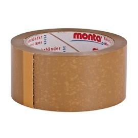 PVC Klebeband braun MONTA 124 50mm x 66m / 42µ / Naturkautschuk (RLL=66 METER) Produktbild