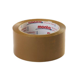 PP Klebeband braun MONTA 610 50mm x 66m / 30µ / Acrylat (RLL=66 METER) Produktbild