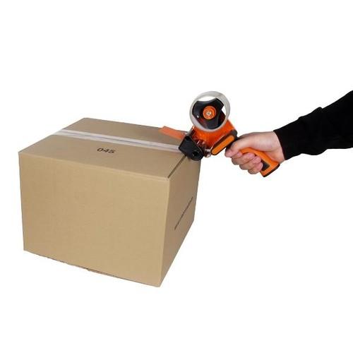 Klebebandabroller orange 50mm / H3S / Soft-Touch-Griff mit einziehbarer Klinge Produktbild Additional View 2 L