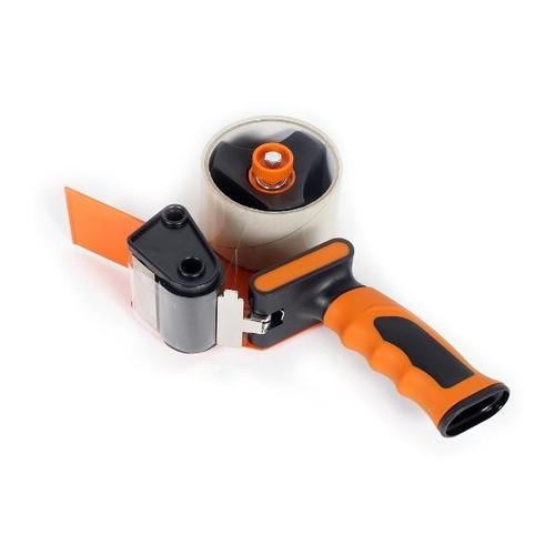 Klebebandabroller orange 50mm / H3S / Soft-Touch-Griff mit einziehbarer Klinge Produktbild Additional View 1 L
