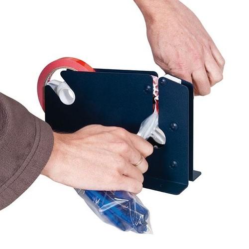 Beutelschliesser für Klebeband bis 12mm blau E7-R mit Trennmesser Produktbild Additional View 2 L