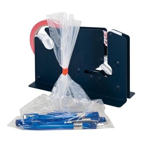 Beutelschliesser für Klebeband bis 12mm blau E7-R mit Trennmesser Produktbild Additional View 3 L