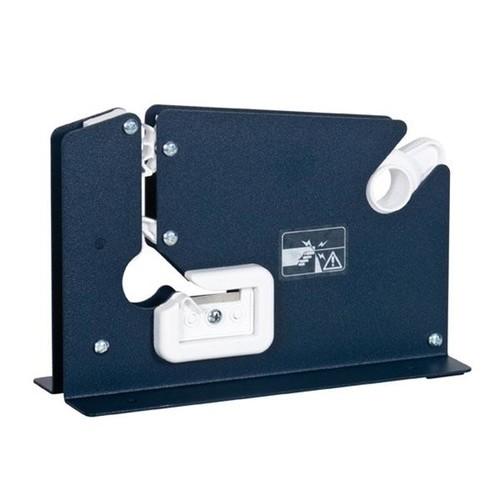 Beutelschliesser für Klebeband bis 12mm blau E7-R mit Trennmesser Produktbild