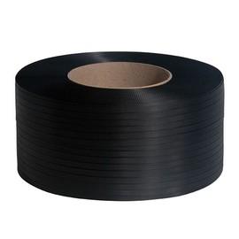 PP Umreifungsband schwarz 12,0 x 0,55mm / 3000m / Kern: 200mm (RLL=3000 METER) Produktbild