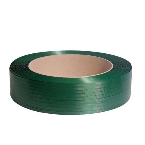 PET Umreifungsband grün geprägt 15,5 x 0,90mm / 1500m / Kern: 406mm (RLL=1500 METER) Produktbild