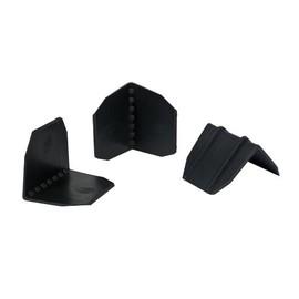HDPE Kantenschutzecke schwarz 40 x 40 x 44mm / ohne Dorn max. Bandbreite: 22mm (KTN=1500 STÜCK) Produktbild