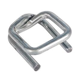 Metallklemme verzinkt extra stark für Polyester Fadenband 25mm (KTN=400 STÜCK) Produktbild