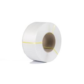 PP Umreifungsband weiß 7,0 x 0,63mm / 5000m / Kern: 200mm (RLL=5000 METER) Produktbild