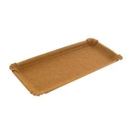 Pappteller 8x23cm / braun (PACK=250 STÜCK) Produktbild