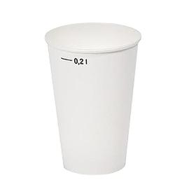 Pappbecher 0,2l weiß mit Eichstrich (PACK=100 STÜCK) Produktbild