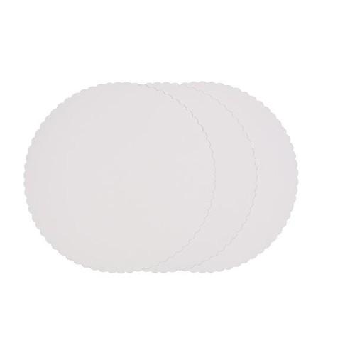 Tortenscheibe rund Ø30cm weiß (PACK=100 STÜCK) Produktbild Front View L