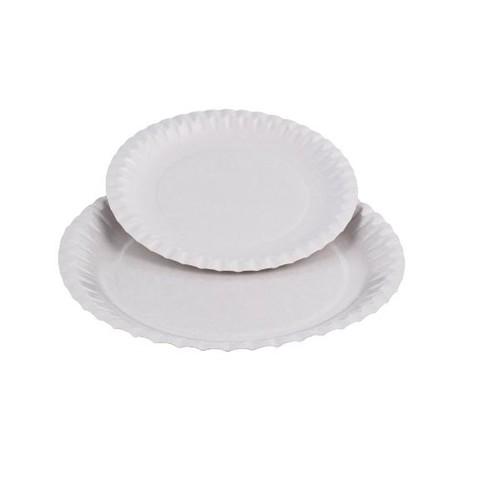 Pappteller rund Ø23cm / weiß / beschichtet (PACK=100 STÜCK) Produktbild Additional View 1 L