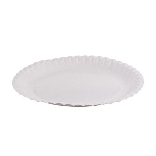 Pappteller rund Ø23cm / weiß / beschichtet (PACK=100 STÜCK) Produktbild