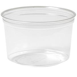 rPET Runddose Deli-Schale Crystal ecoecho Ø 116x75mm 500ml transparent (PACK=35 STÜCK) Produktbild
