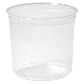 rPET Runddose Deli-Schale Crystal ecoecho Ø 116x107mm 750ml transparent (PACK=35 STÜCK) Produktbild