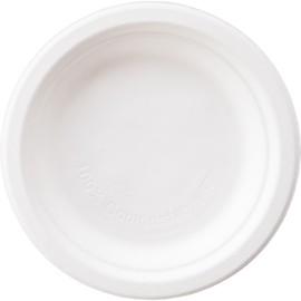 Bagasse Teller ecoecho Ø15cm rund weiß (PACK=125 STÜCK) Produktbild