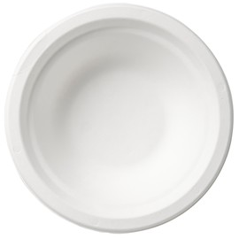 Bagasse Suppenteller ecoecho Ø18cm / rund / 450ml / weiß (PACK=50 STÜCK) Produktbild