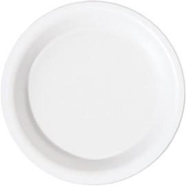 Bagasse Suppenteller ecoecho Ø16cm rund 300ml weiß (PACK=50 STÜCK) Produktbild