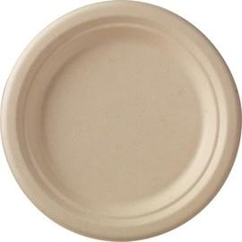 Bagasse Teller ecoecho Ø18cm / rund / braun (PACK=50 STÜCK) Produktbild