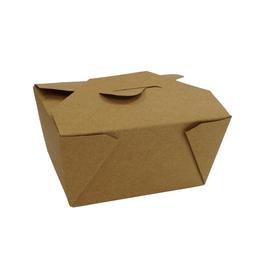 Hartpapier-Box Leo braun 700ml 130x105x65mm Gr. 1 PE-Beschichtung (KTN=450 STÜCK) Produktbild