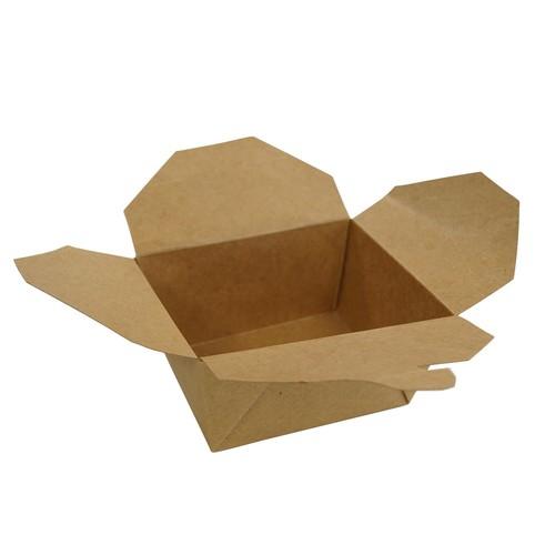 Hartpapier-Box Leo braun 700ml 130x105x65mm Gr. 1 PE-Beschichtung (KTN=450 STÜCK) Produktbild Additional View 1 L