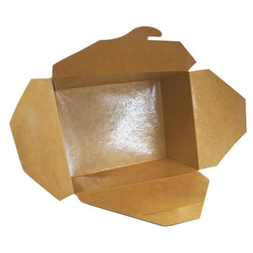 Hartpapier-Box Leo braun 700ml 130x105x65mm Gr. 1 PE-Beschichtung (KTN=450 STÜCK) Produktbild Additional View 2 L