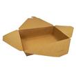 Mitnahmebox Leo braun Kraft / Größe 2 PE-Beschichtung / 215x160x50mm / 1300ml Faltverschluss (KTN=200 STÜCK) Produktbild Additional View 1 S