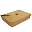 Mitnahmebox Leo braun Kraft / Größe 2 PE-Beschichtung / 215x160x50mm / 1300ml Faltverschluss (KTN=200 STÜCK) Produktbild