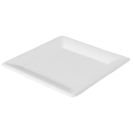 Bagasse Teller ecoecho 26x26cm / quadratisch / weiß (PACK=50 STÜCK) Produktbild