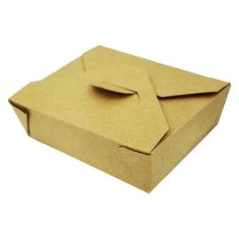 Mitnahmebox Leo braun Kraft / Größe 9 PE-Beschichtung / 125x105x35mm / 470ml (KTN=500 STÜCK) Produktbild