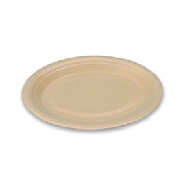 Isoform Teller oval 260x200x20mm / weiß / laminiert / 1735 (PACK=50 STÜCK) Produktbild