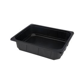 PP Kunststoffschale 1/2 Gastro 325x265x80mm schwarz 915000 (KTN=96 STÜCK) Produktbild