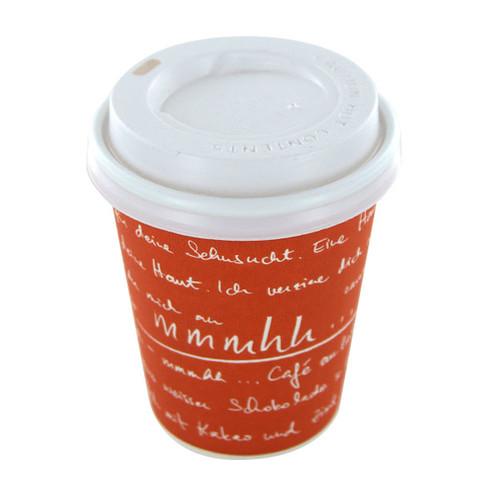 Coffee to go Becher 0,2l mmmhh orange (PACK=50 STÜCK) Produktbild