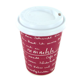 Coffee to go Becher 0,3l mmmhh bordeaux (PACK=50 STÜCK) Produktbild