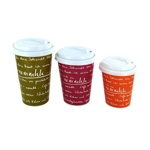 Coffee to go Becher 0,4l mmmhh grün (PACK=50 STÜCK) Produktbild Additional View 1 L