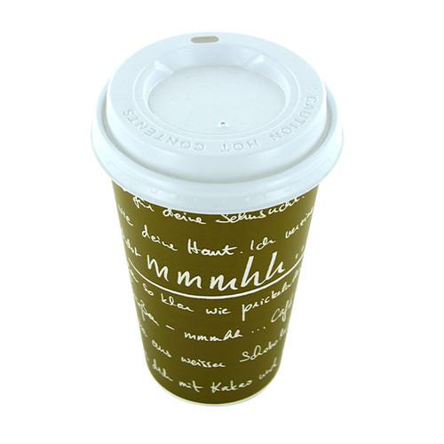 Coffee to go Becher 0,4l mmmhh grün (PACK=50 STÜCK) Produktbild