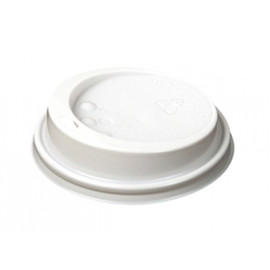 Deckel Coffee To Go Becher 0,3l / 0,4l weiß 90mm (PACK=100 STÜCK) Produktbild
